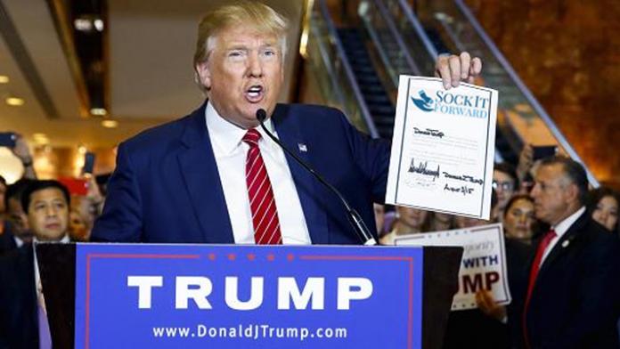 Donald Trump Sock It Forward